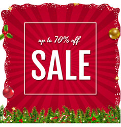 xmas sale poster with christmas border vector image