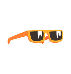 Yellow sunglasses cartoon vector