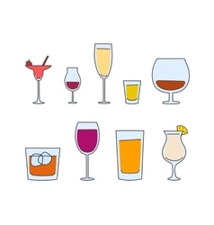 alcohol tableware vector image vector image