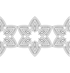 black and white snowflakes for coloring book vector image vector image