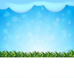 blue background with grass vector image