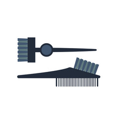 fashion professional comb icon style hairdresser vector image