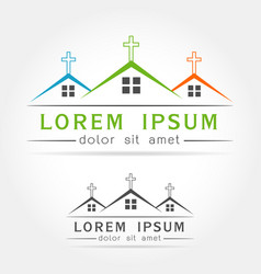 house church icon vector image