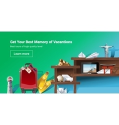 Loading page web site to provide tourist services vector image