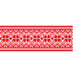 scandinavian national ornament vector image