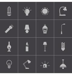 Black light icons set vector