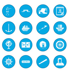 happy columbus day icon blue vector image vector image