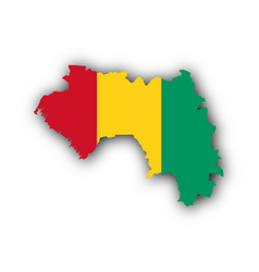 map and flag of guinea vector image