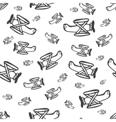 pattern airplane vector image