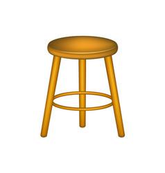 wooden stool in retro design vector image