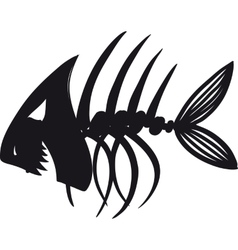 Evil Fish Skeleton vector image