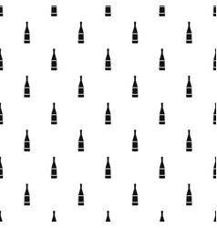 Glass bottle pattern vector