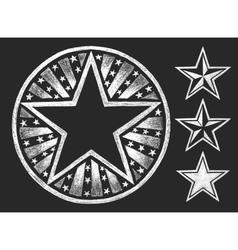 Star shape on the chalkboard vector image vector image