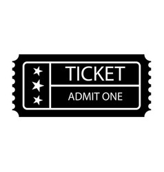 ticket icon isolated black on the white vector image vector image