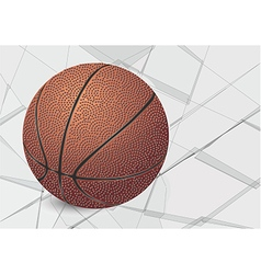 Basketball ball and glass vector