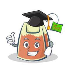 Graduation tea bag character cartoon art vector