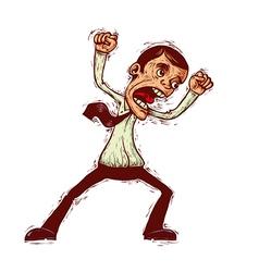 Mad cartoon man vector