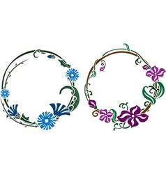 Two wreath in art nouveau style vector image