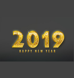 2019 happy new year background with shine vector image