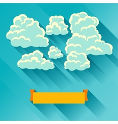 Abstract background card with sky and clouds vector