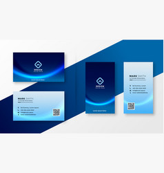Abstract blue professional business card vector