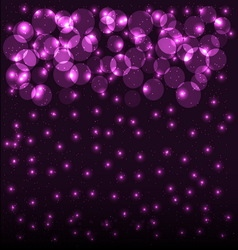 Abstract bokeh background with shining particles vector image