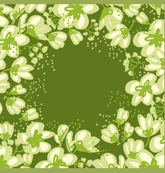 Abstract hand drawn apple blossom vector