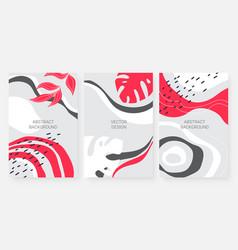 abstract minimal leaves modern circular and wavy vector image