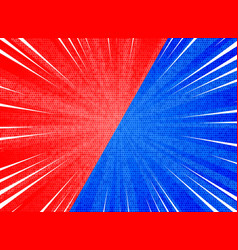 abstract sun burst contrast red blue colors vector image