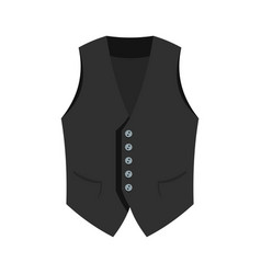 actor vest icon flat style vector image