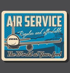 Air service travel passenger transportation vector