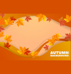 autumn background with leaves back to vector image