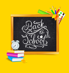 back to school lettering text banner vector image