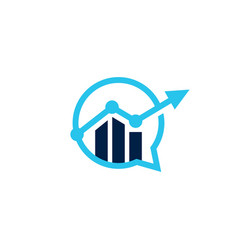 bar chart statistics business talk chat bubble vector image