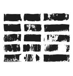 Big set of rectangular text box grunge paint vector