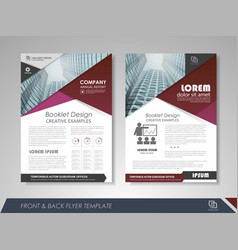 Business annual report vector