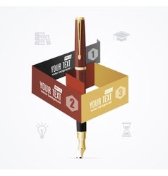 Business Infographic Concept with Fountain Pen vector