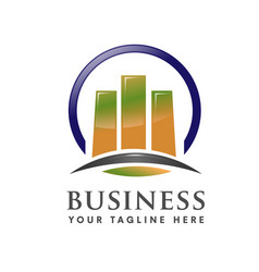 business marketing finance and property logo vector image