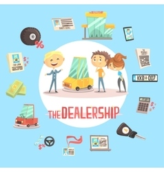 Car Dealership Firm Professional Dealer Selling vector image
