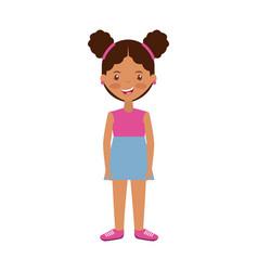 Cartoon girl smiling vector