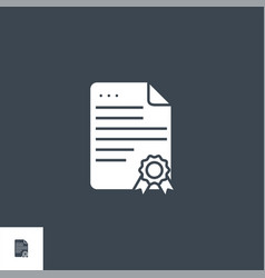 certificate related glyph icon vector image