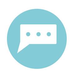 Chat bubble symbol vector