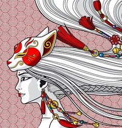 China Girl vector image