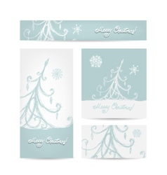 Christmas set for print cards vector image