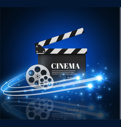 Cinema background with movieblue background with vector