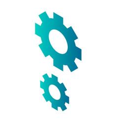 cogwheel icon isometric style vector image
