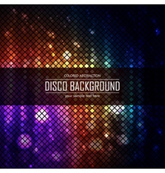 Colorful disco lighten background Magic effect vector