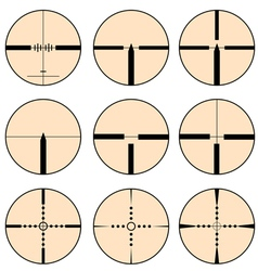 Cross hair and target set vector image