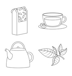Design food and natural icon collection vector