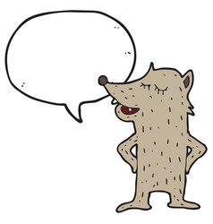 digitally drawn wolf characters and speech vector image